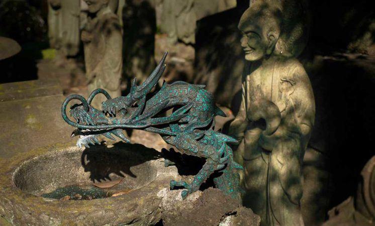 Drache im Daien-ji Tempel in Tokio
