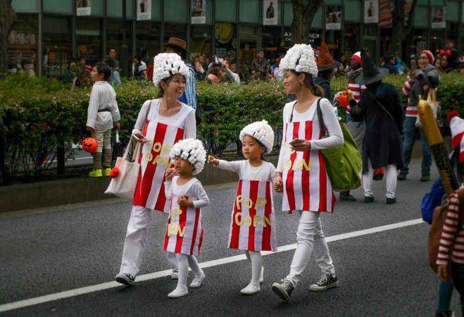 Popcorn Halloweenkostüme in Tokio