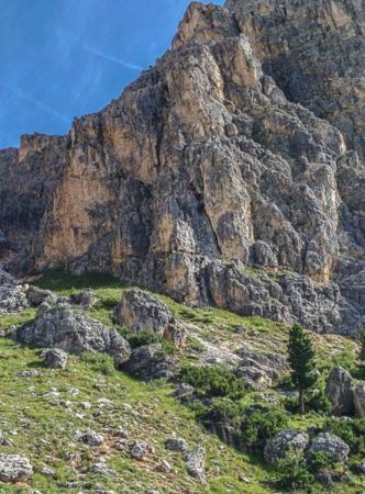 Einstieg Klettersteig Via Ferrata degli Alpini
