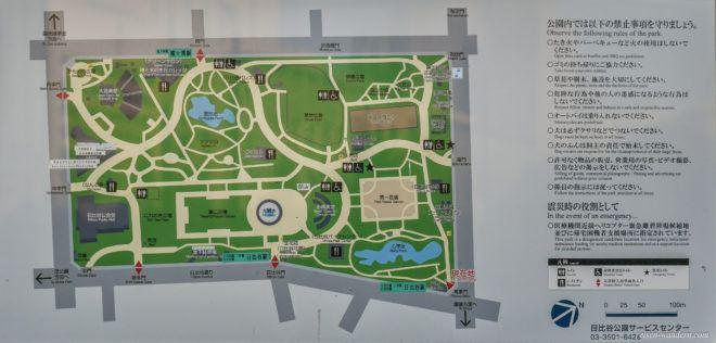 Übersichtsplan des Hibiya Park