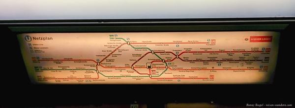 Foto: Streckenplan in einer U-Bahn