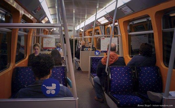 Foto: Innenansicht U-Bahn in Wien