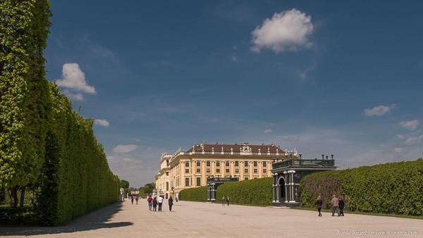 Bild: Rückseite vom Schloss Schönbrunn