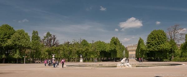 Bild: Blick auf das Schloss Schönbrunn vom Schlosspark