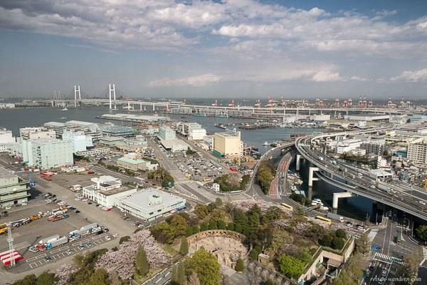 Bild: Blick auf Yokohama vom Marine Tower Yokohama