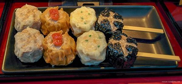 Bild: Chinesische Fleischklößchen in Yokohama Chinatown