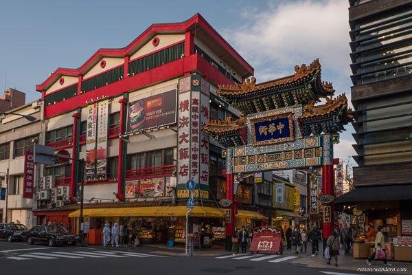 Bild: Buntes Tor in Yokohama Chinatown