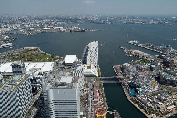 Bild: Blick auf Yokohama vom Yokohama Landmark Tower