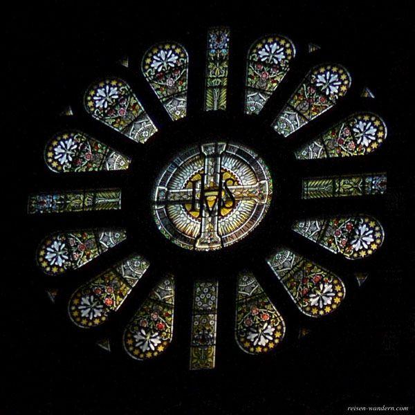 Bild: Rosenfenster in der Sint Nikolaaskerk