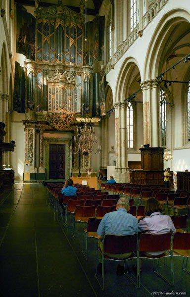 Bild: Innenraum der Nieuwe Kerk in Amsterdam