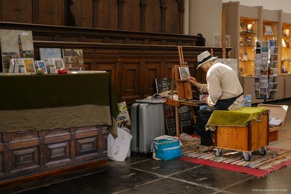 Bild: Maler in der Westerkerk in Amsterdam