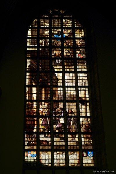 Bild: Fensterglasbild in der Oude Kerk