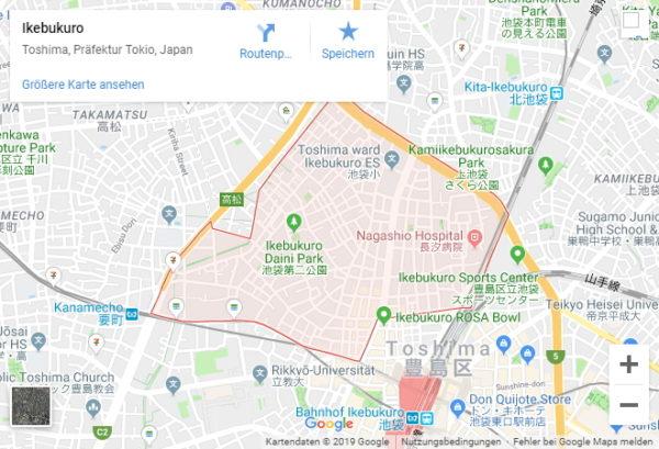 Google Maps Karte Ikebukuro