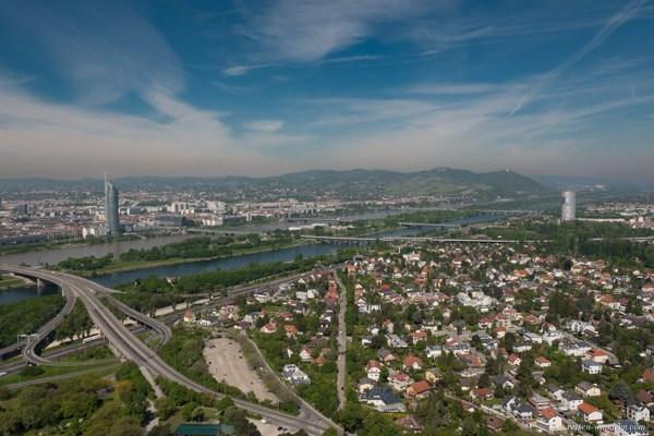 Blick vom Donauturm in den Norden von Wien