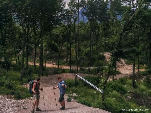 Wanderweg an der Downhillstrecke zum Malga Zures