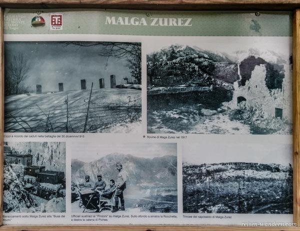 Kriegsfotos aus dem 1. Weltkrieg vom Malga Zures