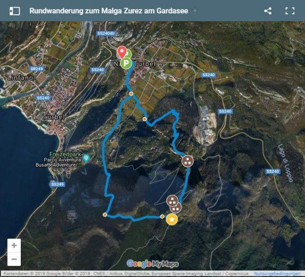 Google Maps Karte Wanderung Malga Z