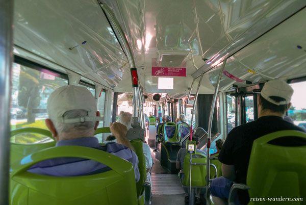 Innenansicht Bus auf Teneriffa