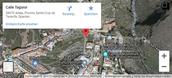 Parkplatz auf Google Maps in Adeje