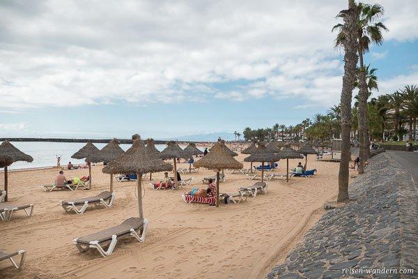 Strand in Los Cristianos auf Teneriffa