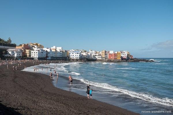 Strand in Puerto de la Cruz auf Teneriffa