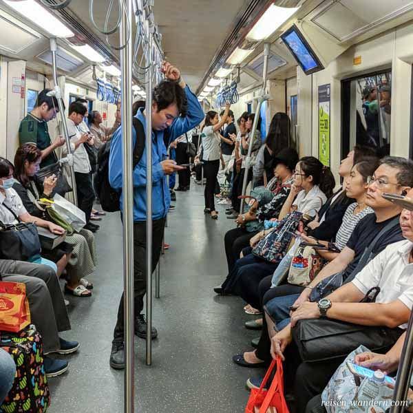 Innenansicht U-Bahn Bangkok