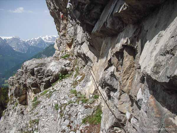 Stahlseil am Klettersteig zum Hochkogel bei Werfen