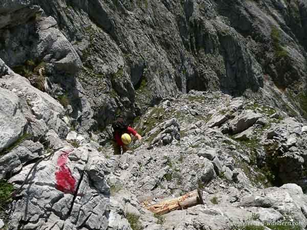 Leitern am Klettersteig auf dem Hochkogel bei Werfen