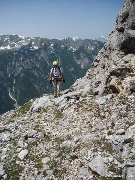 Gehpassage am Klettersteig Hochkogel bei Wefen