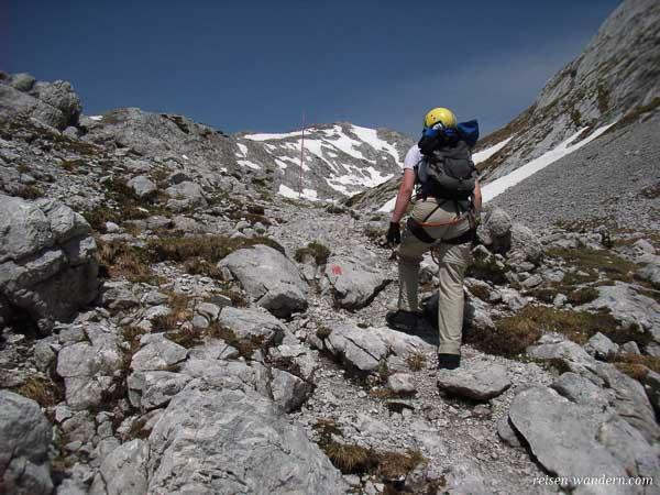 Ausstieg des Klettersteig beim Hochkogel