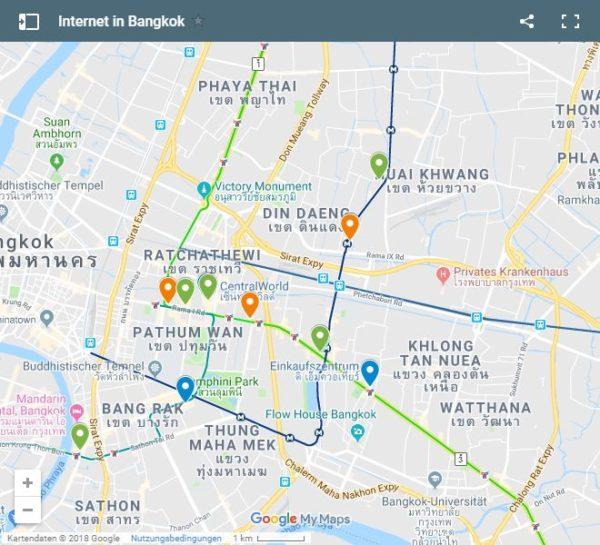 Google Maps Karte Bangkok Internet