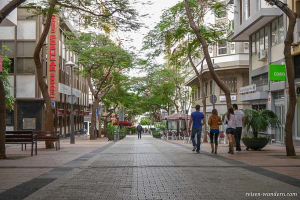 Fußgängerpassage Calle Bethencourt Alfonso in Santa Cruz de Tenerife