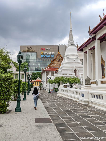 Chedi des Wat Pathum Wanaram in Siam in Bangkok