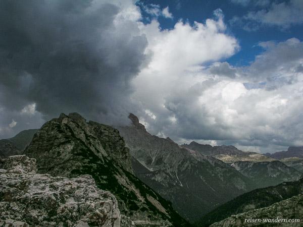 Gewitterwolken in den Alpen