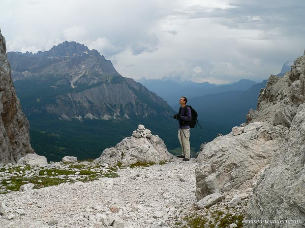 Blick auf die Dolomiten vom Via Ferrata Michielli Strobel