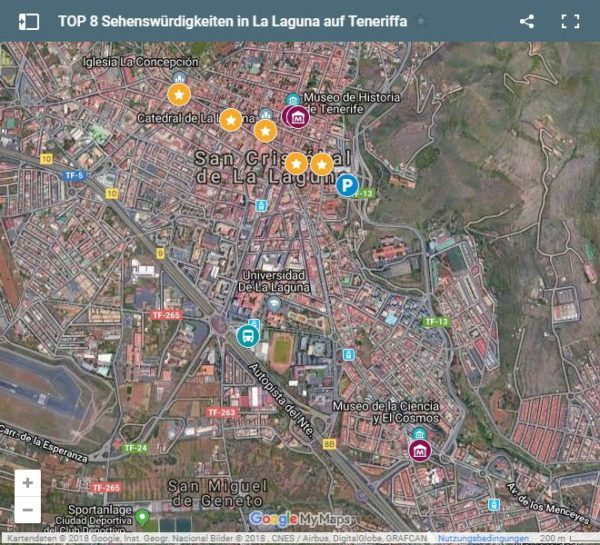 Google Maps Karte La Laguna