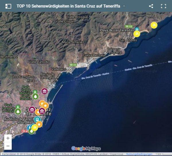 Google Maps Karte Santa Cruz