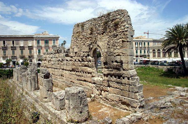 Überreste des Apollontempel in Syrakus