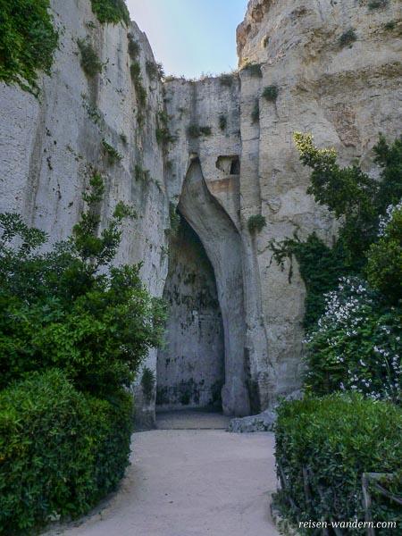 Ohr des Dionysios in Syrakus