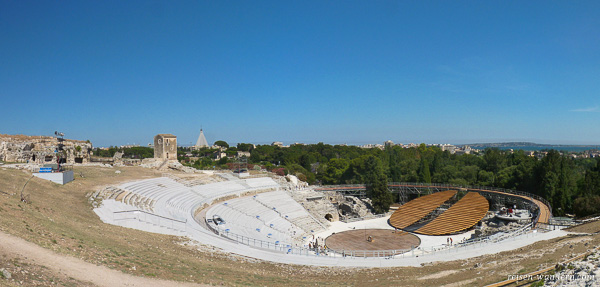Griechisches Theater des Parco Archeologico in Syrakus