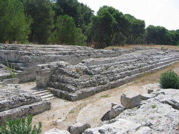 Überreste des Altar of Hiero II in Syrakus