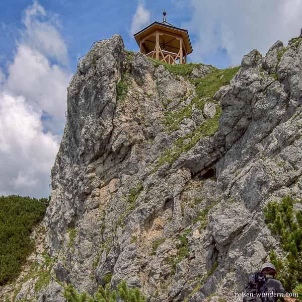 Letzter Abschnitt des Stripsenkopf Klettersteig