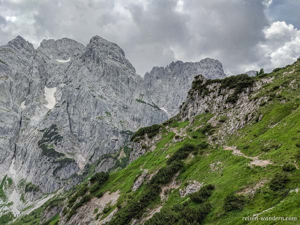 Einstieg Stripsenkopf Klettersteig