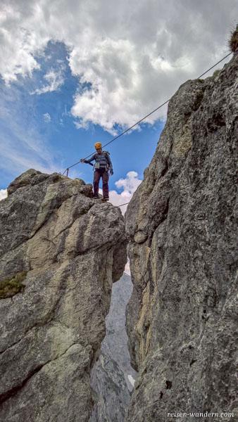 Seilbrücke am Stripsenkopf Klettersteig