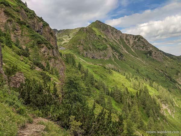 Zustiegsweg Querung zum Marocker Klettersteig