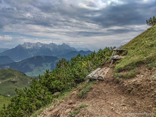 Anseilplatz am Einstieg des Marocker Klettersteig