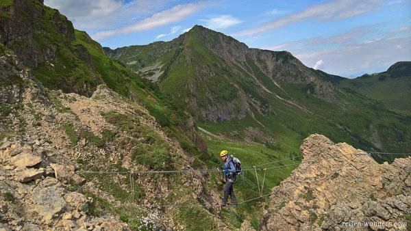 Seilbrücke vom Marocker Klettersteig