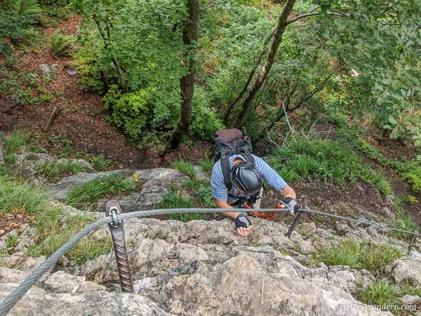 Übungsklettersteig Gaudeamushütte am Wilden Kaiser