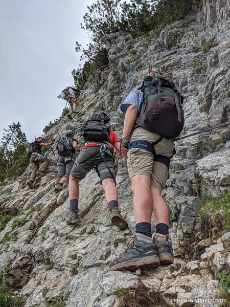 Stau auf dem Klamml Klettersteig