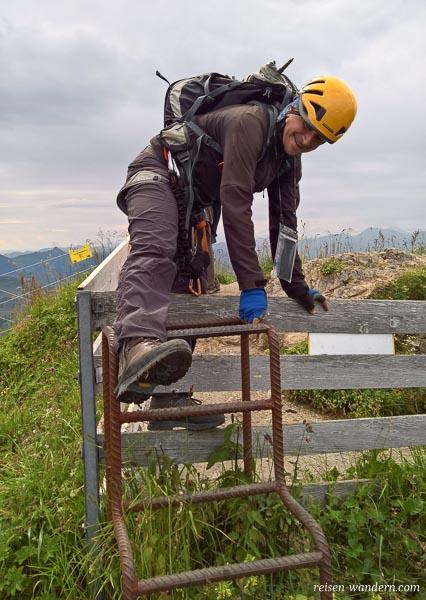 Zaun bei Aussicht Kitzbüheler Horn
